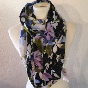 J. Jill Floral Cotton Infinity Scarf